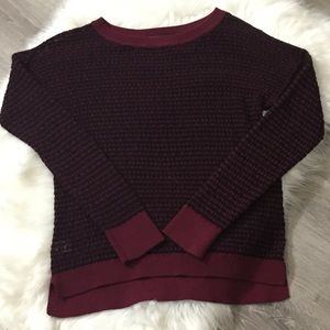 NWOT Ann Taylor Loft Red Blue Fine Knit Sweater